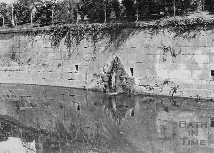 3inch Spring overflow from Sydney Gardens tank, Bathwick Bath 1956