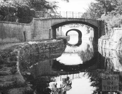 Canal bridge, Sydney Gardens, Bathwick, Bath 1956