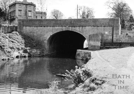 Upstream portal of Beckford Road tunnel, Bathwick, Bath 1956