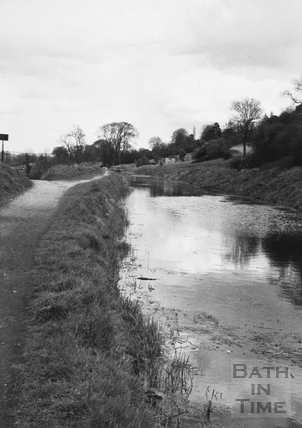 View looking upstream to the Swing Bridge, Bathampton 1956