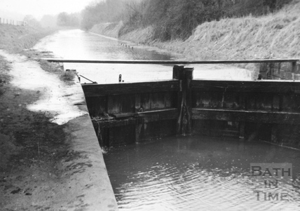 View from Limpley Stoke Bridge looking north 1956