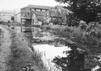 Canalside buildings, Bathwick, Bath 1956
