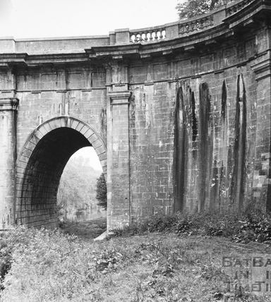 Detail of south-east wing wall of Dundas Aqueduct 1956