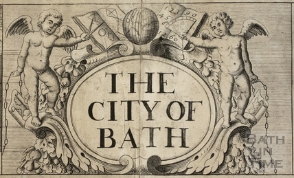 The City of Bath. Cartouche. Gilmore 1694-1717 - detail