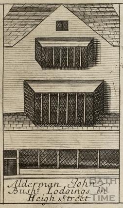 Alderman John Bush's Lodgings in High Street, Bath. Gilmore 1694-1717 - detail