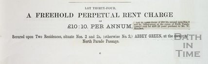 Sale details from the Manvers Estate, Bath 1874