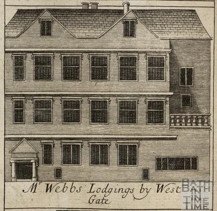 Mr. Webb's Lodgings by West Gate, Bath. Gilmore 1694-1717 - detail