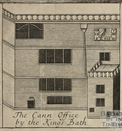 The Cann Office by the King's Bath, Bath. Gilmore 1694-1717 - detail
