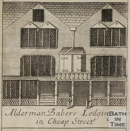 Alderman Baber's Lodgings in Cheap Street, Bath. Gilmore 1694-1717 - detail