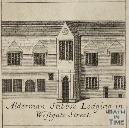 Alderman Stibbs's Lodging in Westgate Street, Bath. Gilmore 1694-1717 - detail