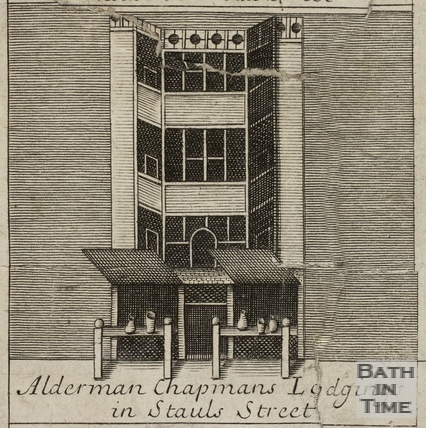 Alderman Chapman's Lodgings in Stall Street, Bath. Gilmore 1694-1717 - detail