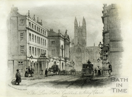 The White Lion Hotel, Guildhall and Abbey Church, Bath c.1856