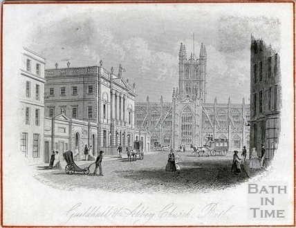 Guildhall and Abbey Church, Bath 1854