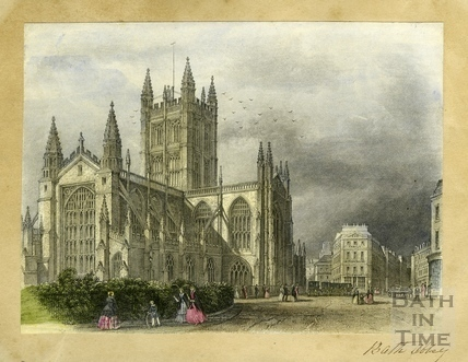 Abbey Church from the Orange Grove, Bath c.1850