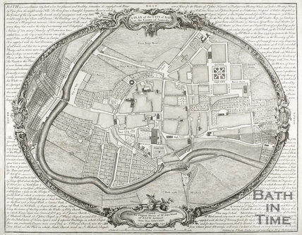 1735 A Plan of the City of Bath copied from a Survey of Mr. John Wood of Bath, Architect Anno Dom MDCCXXXV