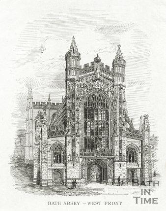 West front of Bath Abbey, Bath