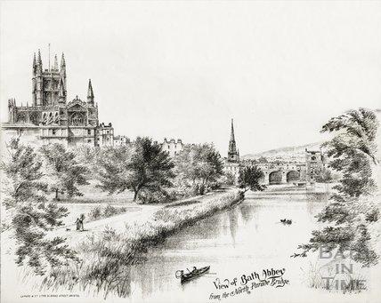 View of Bath Abbey from the North Parade Bridge, Bath