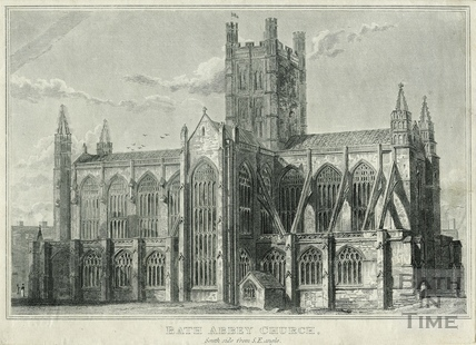 Bath Abbey Church, South side from S.E. angle, Bath c.1815
