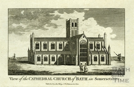 View of the Cathedral Church of Bath in Somersetshire 1784