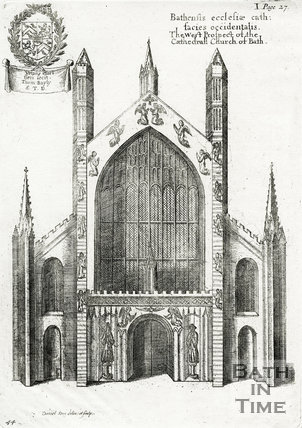 Bath Abbey, Bathensis ecclesiae cath:facies occidentalis, Bath 1655