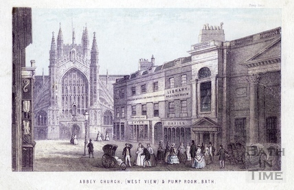 Abbey Church and Pump Room, Bath 1861