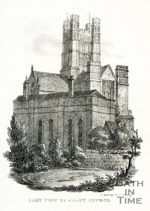 East View of Abbey Church, Bath 1823