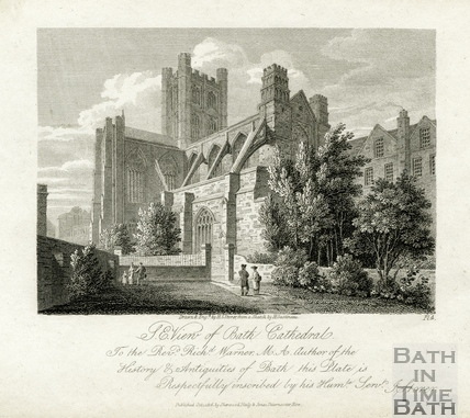S.E. View of Bath Cathedral, Bath 1814
