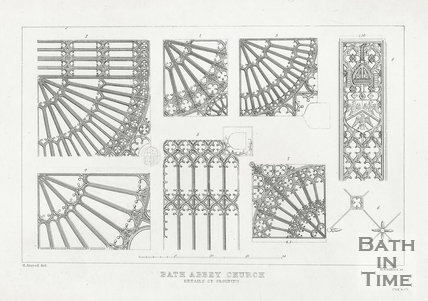 Details of groining, Bath Abbey Church, Bath