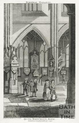 Quin's Monument, Bath Abbey, Bath 1790