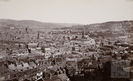 View of Bath from Beechen Cliff c.1871-4
