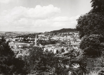 View of Bath from Beechen Cliff 1950