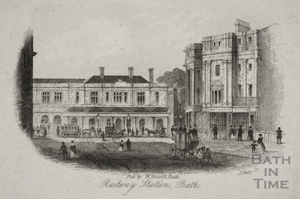 Railway Station, Bath c.1850