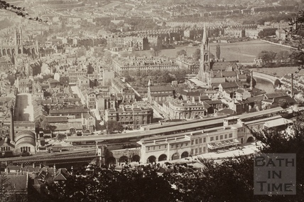View of Bath from Beechen Cliff c.1910 - detail
