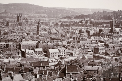 View of Bath from Beechen Cliff c.1871-4 - detail