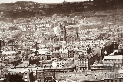 View of Bath from Beechen Cliff c.1874-9 - detail