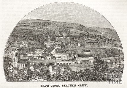Bath from Beachen Cliff (Beechen Cliff) 1852