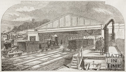 The Bath Station, Bath 1852