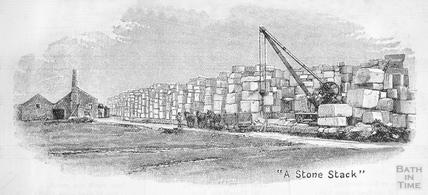 A Stone Stack, Bath stone 1902