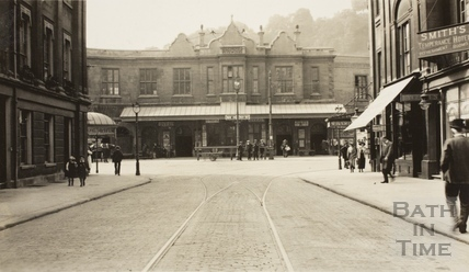 Bath Spa Station from Manvers Street, Bath c.1915