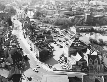 Widcombe taken from the tower of St. Matthew's Church, Bath 1971