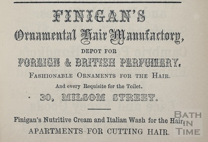 L. & S. Finigan's Ornamental Hair Manufactory 30, Milsom Street, Bath 1862