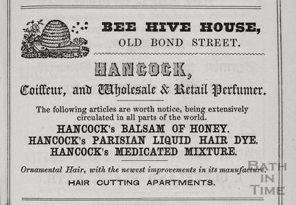 G. Hancock, Bee Hive House, 1, Old Bond Street, Bath 1849