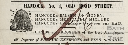 G. Hancock, 1, Old Bond Street, Bath 1855