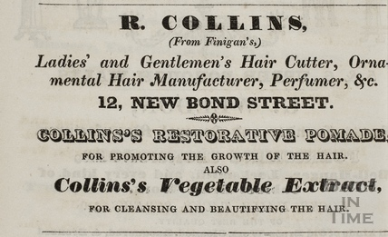 R. Collins (From Finigan's), 12, New Bond Street, Bath 1833