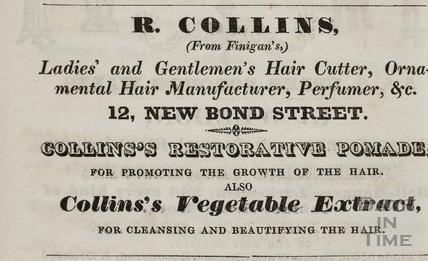R. Collins (From Finigan's), 12, New Bond Street, Bath 1833