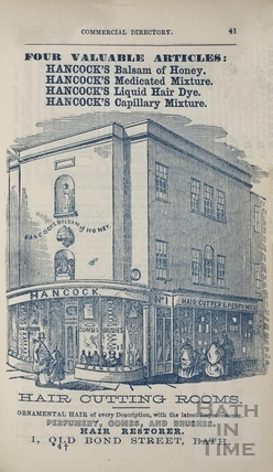 G. Hancock 1, Old Bond Street, Bath 1858
