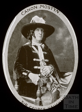 Bath Historical Pageant. Episode 6. Canon Mostyn. Sir George Vaughan July 1909