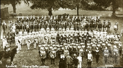 Bath Historical Pageant. Episode 6. Group of Battle of Lansdown July 1909