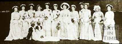 Bath Historical Pageant. Episode 7. Princess Amelia and Maids of Honour July 1909