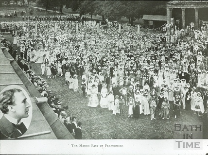 Bath Historical Pageant. March Past of Performers July 1909
